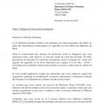 2/2/2013 - Courrier de SOS Tabac à la Cour des Comptes 1