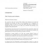 12/3/2013 - 1ère relance de SOS Tabac à la CNAMTS 1