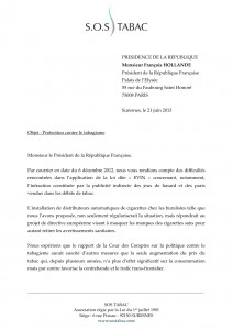 PRESIDENT DE LA REPUBLIQUE F HOLLANDE DISTRIBUTION TABAC : E-CIG 1 21 JUIN 13
